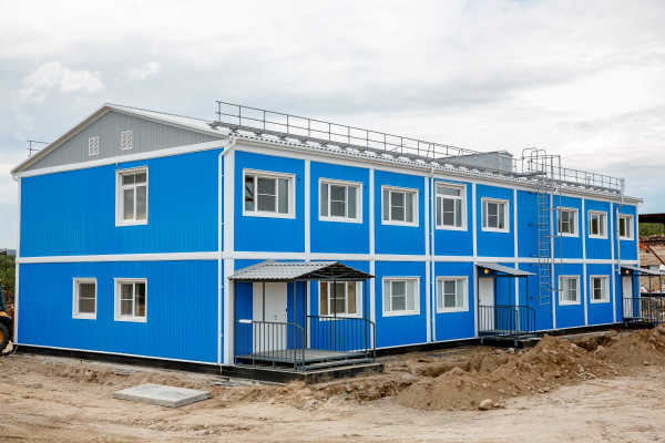 Modular buildings – Two-storey modular building ABK for waste recycling landfill in Murmansk region