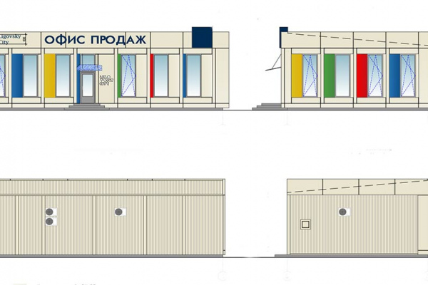 Modular buildings – The project of sales office for company Glorax Development