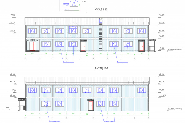 Modular buildings – Project of building ABK in Murmansk