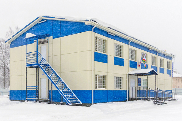 Modular buildings – Two-storey modular building for the State Ministry of Internal Affairs in Lyuban village in Leningrad Region