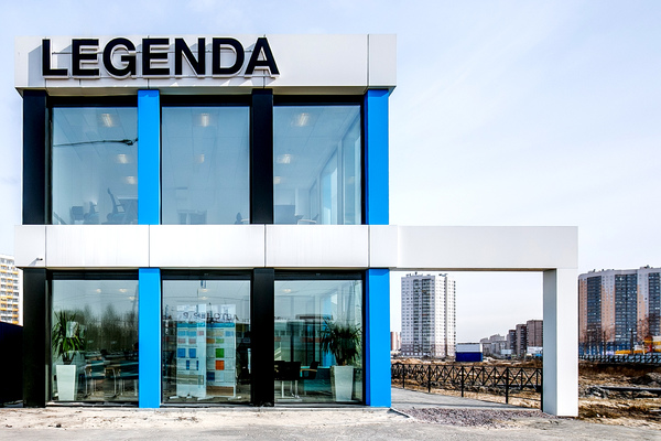 Modular buildings – Temporary sales office for the project «LEGENDA in the Dalnevostochniy, 12
